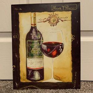 Tin World Market wine sign